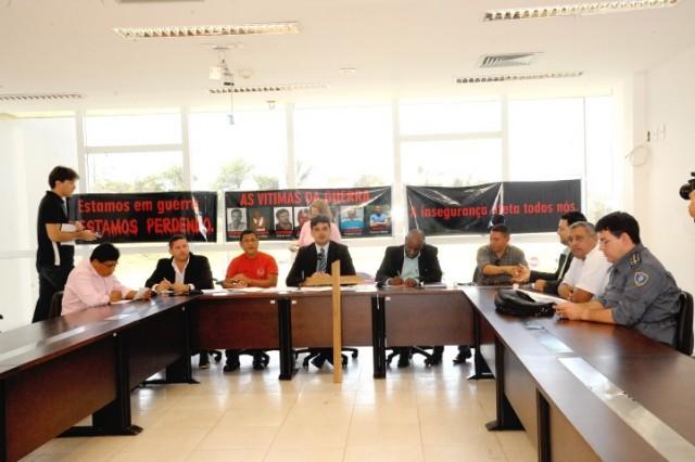 Militares demonstraram insatisfação com proposta orçamentária que corta recursos da Segurança Pública