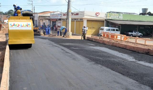 Grandes obras de pavimentação acontecem em diversos bairros de São Luís