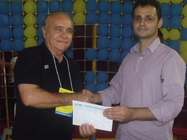 Na foto, Edivaldo Holanda com o advogado Edson Vidigal durante evento do PTC