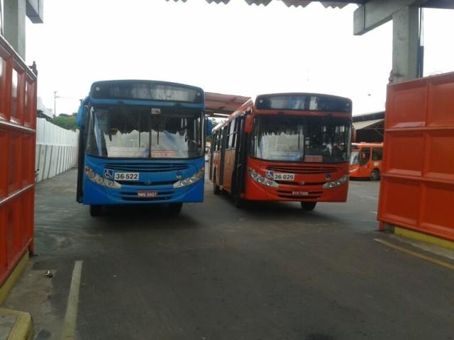 ônibus permaneceram nas garagens