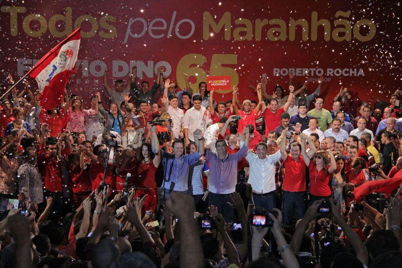Convenção, que homologou a candidatura de Flávio Dino, foi gigante  e superlotou o Centro de Convenção pedro Neiva de Santana