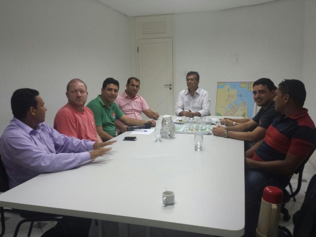 Othelino e Flávio Dino reuniram-se com as lideranças de Vitorino Freire