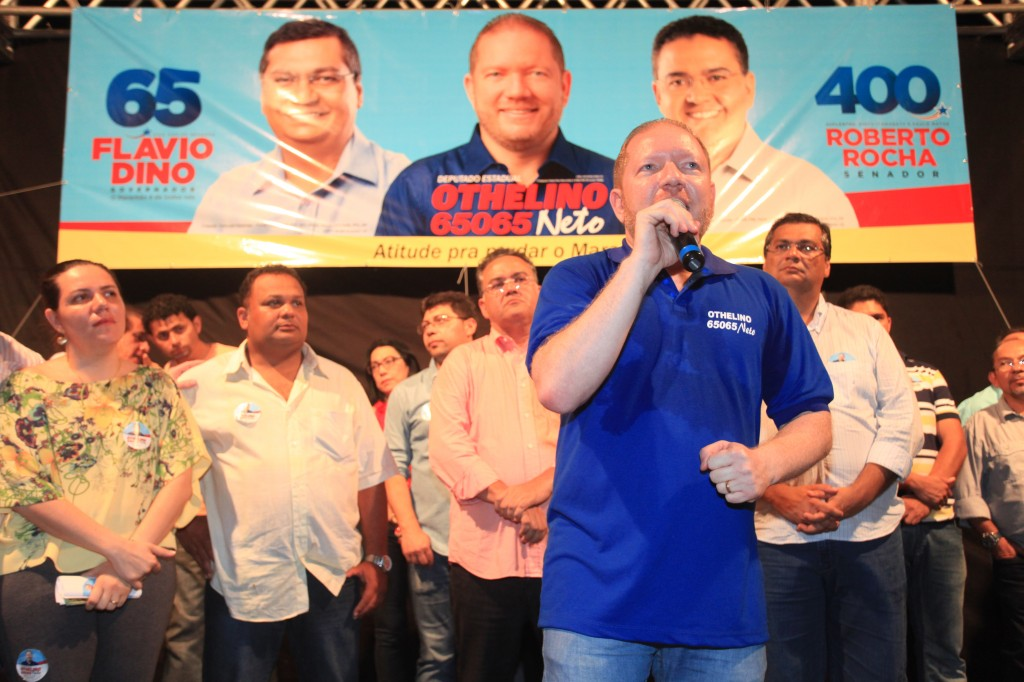 Foto Ribeiro Jr - Lançamento da candidatura contou com presença de Flávio Dino, Roberto Rocha, vereadores e lideranças de diversos municípios