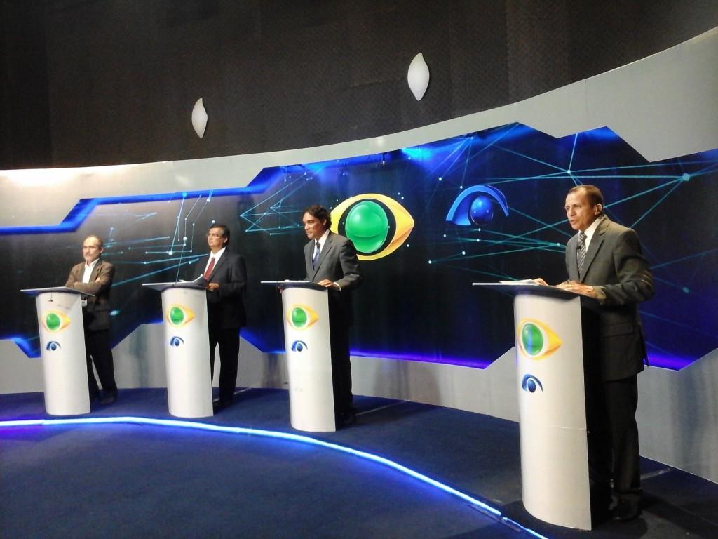 Debate entre os candidatos a governador na TV Maranhense