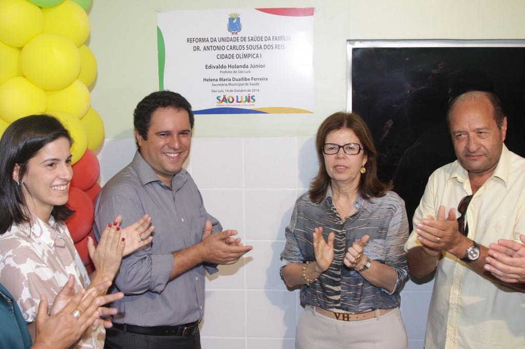 Prefeito Edivaldo Holanda inaugurou a obra  da unidade de saúde da Cidade Olímpica