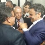 Roberto Rocha trocou ideias com Aécio Neves