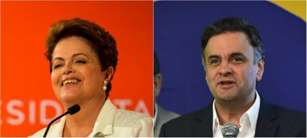 Dilma já aparece com oito pontos a menos que Aécio Neves na primeira pesquisa realizada