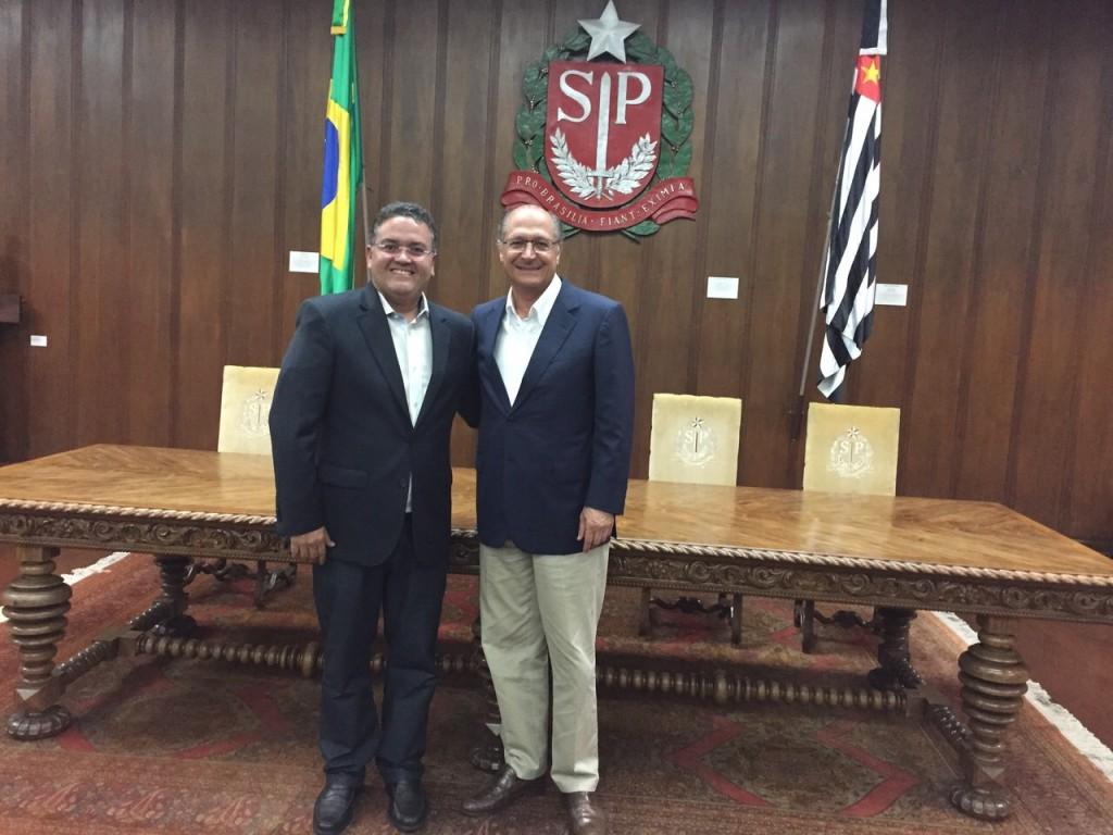 Roberto Rocha e Geraldo Alckmin discutem parcerias