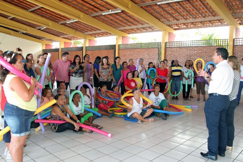"""Presidente do Ipam, Raimundo Penha, esteve presente no início das atividades do projeto """"Viver Mais"""" na sede social do Ipam, no Olho d'Água"""