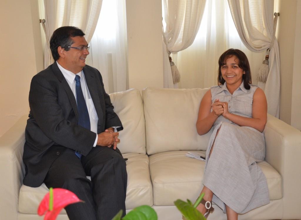 Flávio Dino e Eliziane Gama trataram de questões ligadas ao parlamento e á política