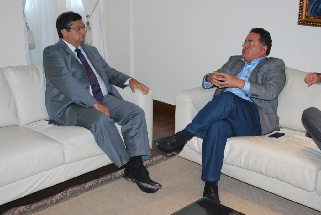 Flávio Dino e Roberto Rocha discutiram ações conjuntas pelo Estado