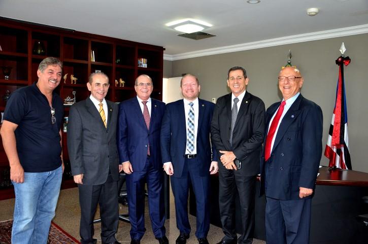 Deputados da Comissão Especial da Reforma Política foram recepcionados pela Presidência da Casa