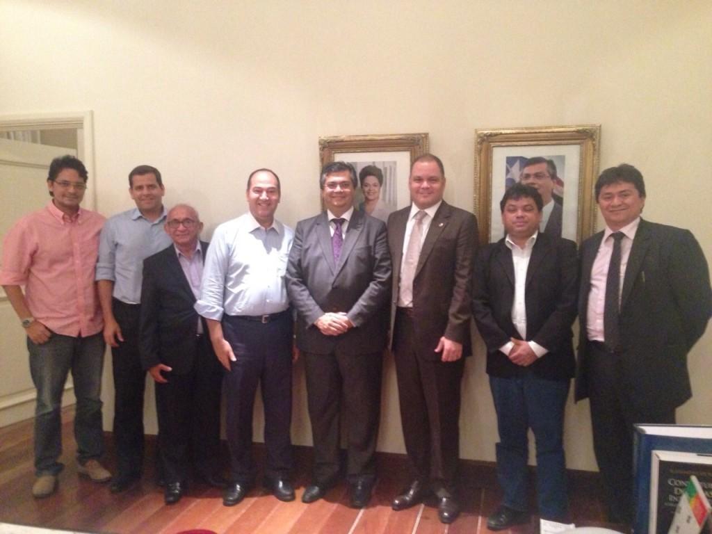 Presidente nacional do PSC, pastor Everaldo, foi recebido por Flávio Dino
