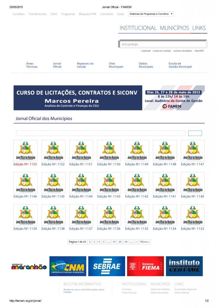 Jornal Oficial - FAMEM - 25.05
