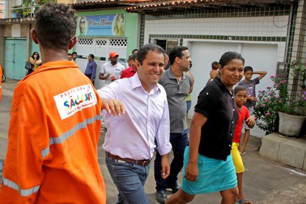 Edivaldo Jr tem sido visto, constantemente, vistoriando obras da Prefeitura
