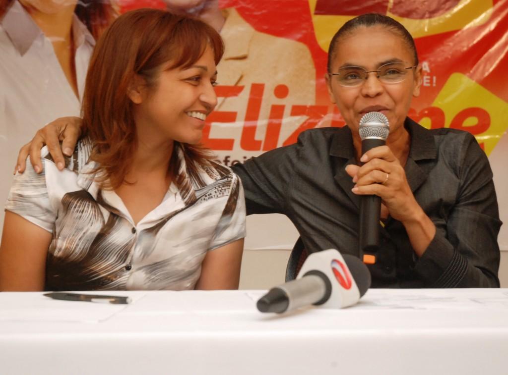 Eliziane ingressou na Rede Sustentabilidade, partido criado por Marina Silva