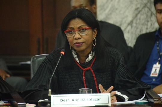 Desembargadora Angela Salazar, relatora do recurso. (Foto: Ribamar Pinheiro)