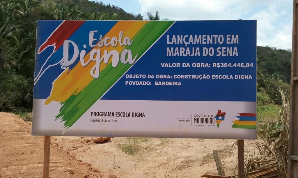Programa Escola Digna iniciado em Marajá do Sena