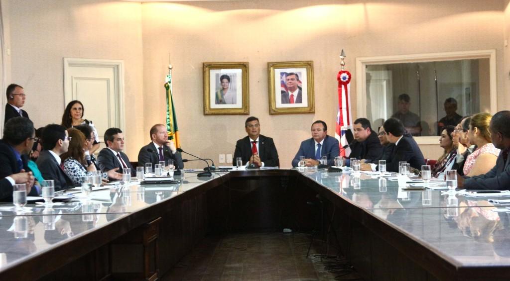 Governador Flávio Dino reuniu-se com integrantes do Comitê, no Palácio dos Leões
