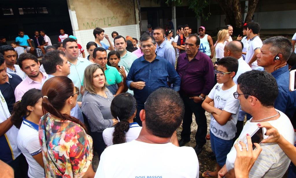 Governador visitou escola em Pedreiras