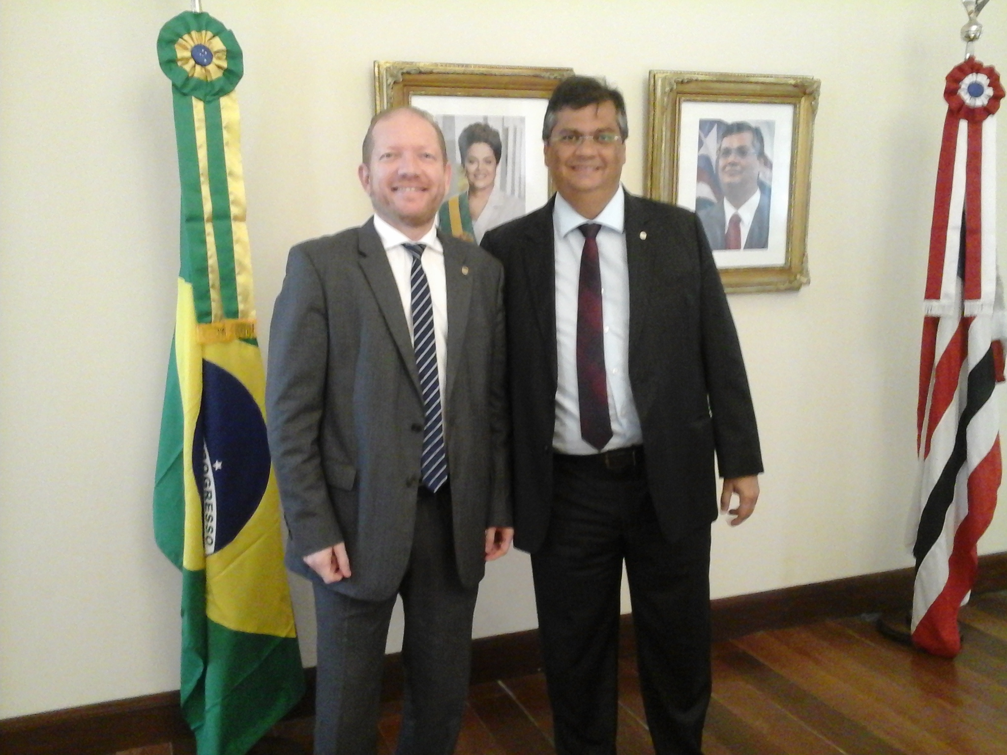 Othelino Neto e o governador Flávio Dino