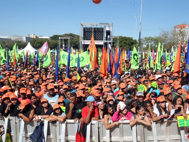 Protestos marcaram o primeiro de maio no Brasil