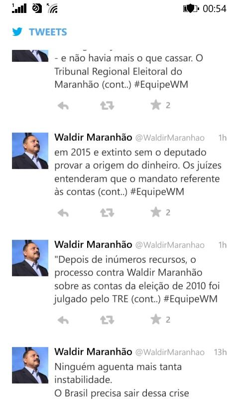 waldir tweets