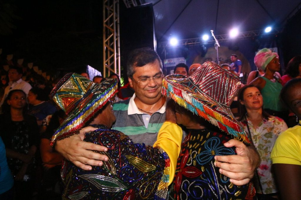 Governador Flávio Dino visitou os arrais no primeiro dia de festa oficial do período junino