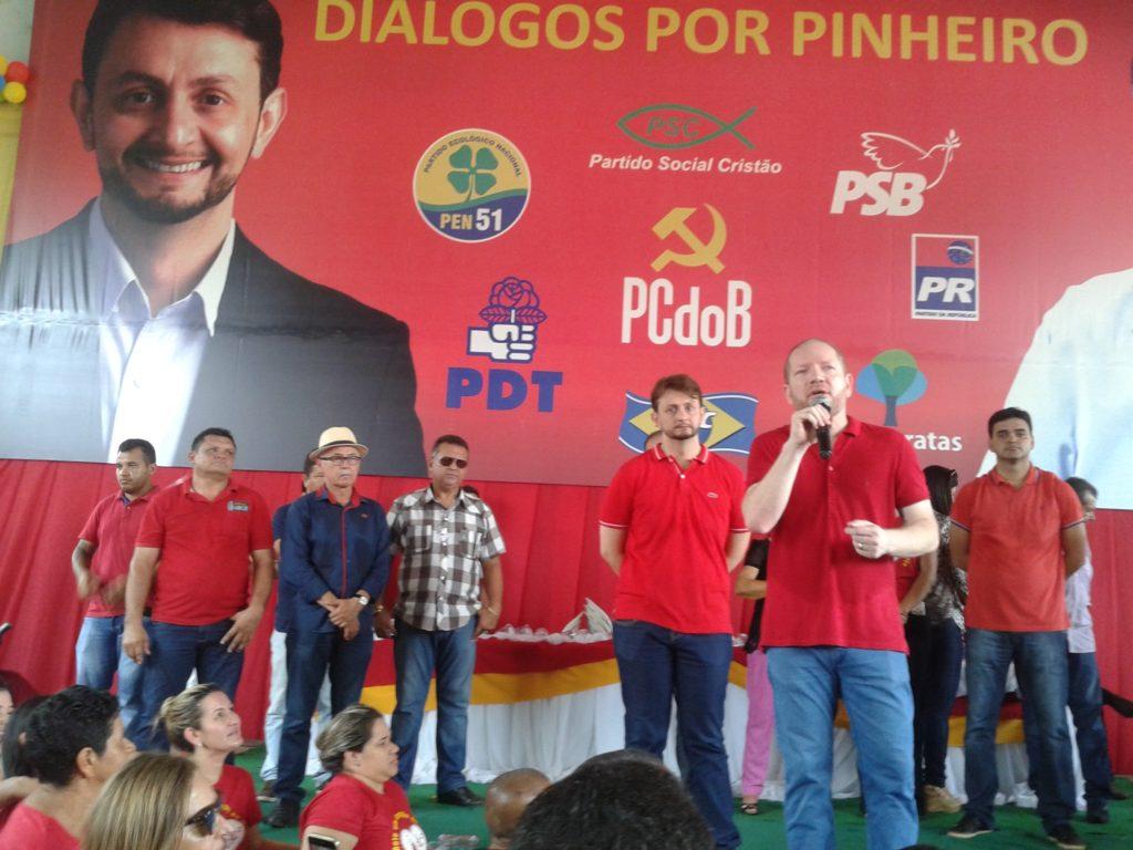 Leonardo Sá mostrou força política em Pinheiro