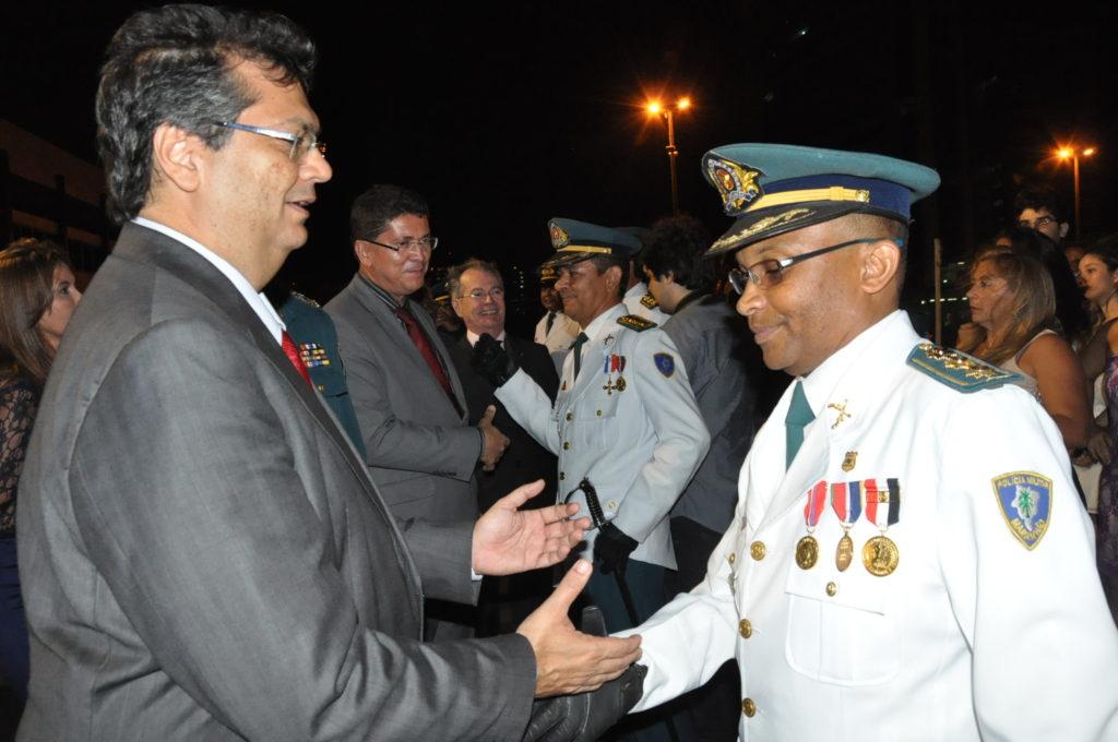 O governador Flávio Dino em evento da Polícia Militar