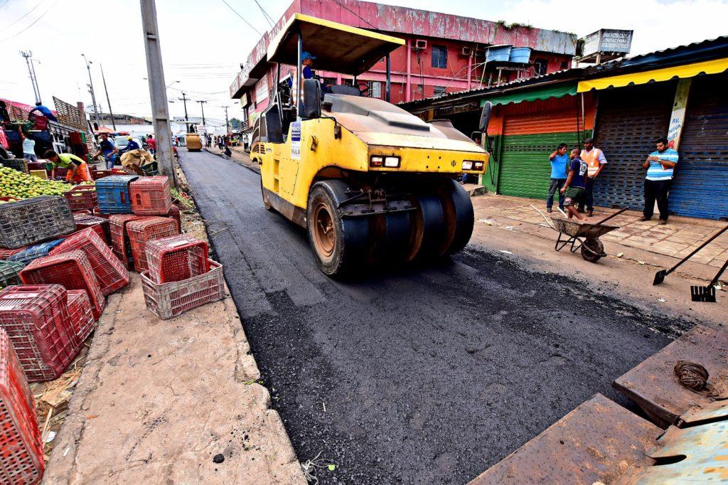 Obras de infraestrutura no Coroado
