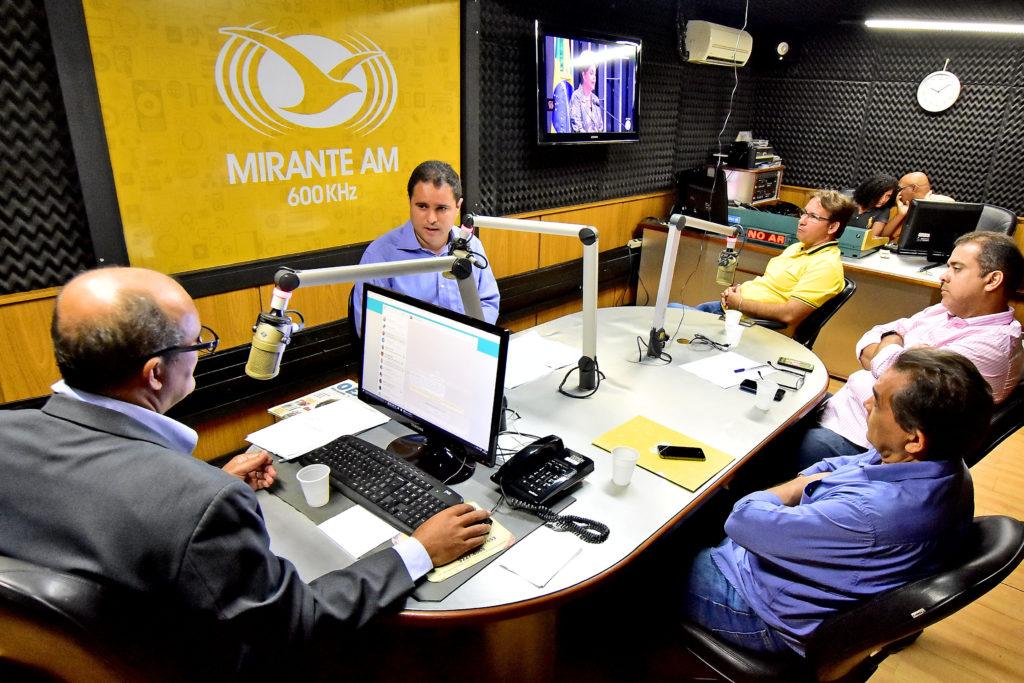 Edivaldo Jr concedeu entrevista à rádio Mirante Am