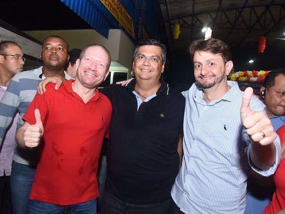 Othelino Neto, Flávio Dino e Leonardo Sá: PC do B unido para derrotar o último resquício da oligarquia Sarney na baixada maranhense com a candidatura do jovem médico