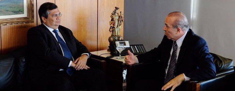 Nesta quinta-feira (8), Dino esteve reunido com o ministro-chefe da Casa Civil do Governo Federal, Eliseu Padilha, no Palácio do Planalto, em Brasília