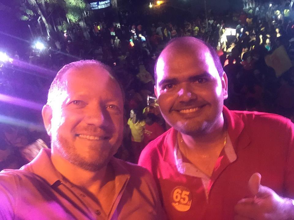 O deputado com Anderson Wilker, favorito em Alcântara