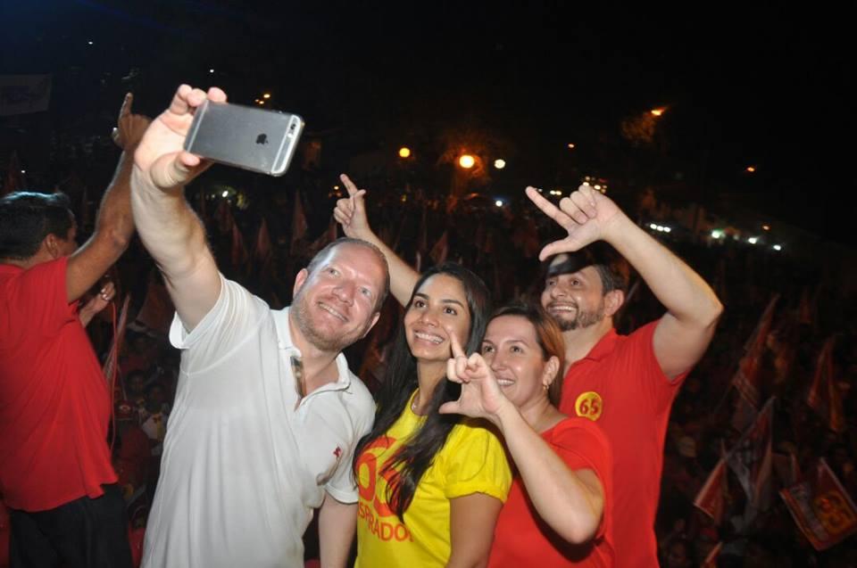 Pinheiro com Leonardo Sá e Ana Paula
