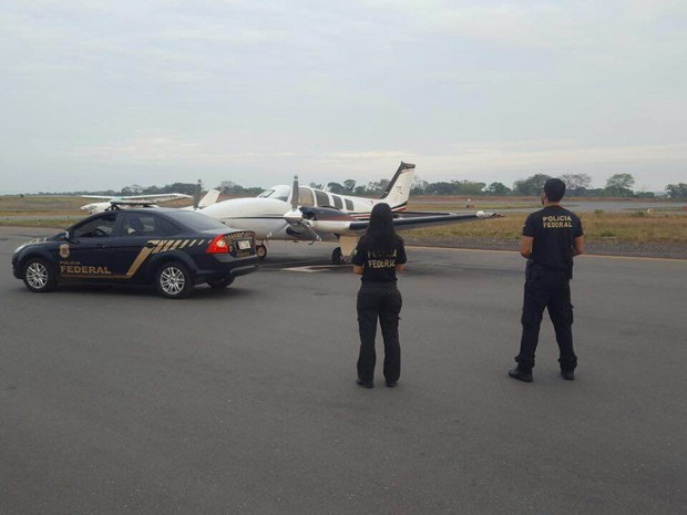 Polícia Federal apreendeu avião durante a operação