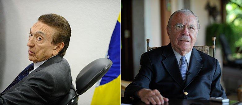 Os dois políticos do Maranhão seriam Edison Lobão (esq.) e José Sarney, ambos do PMDB
