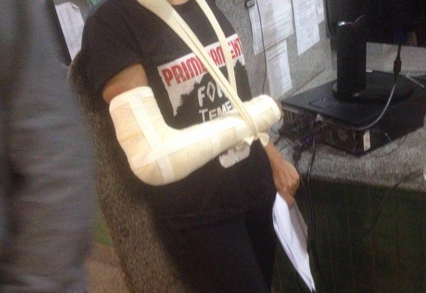 Estudante de 25 anos registrou ocorrência na 5ª DP e garante que foi atropelado por carros de parlamentares