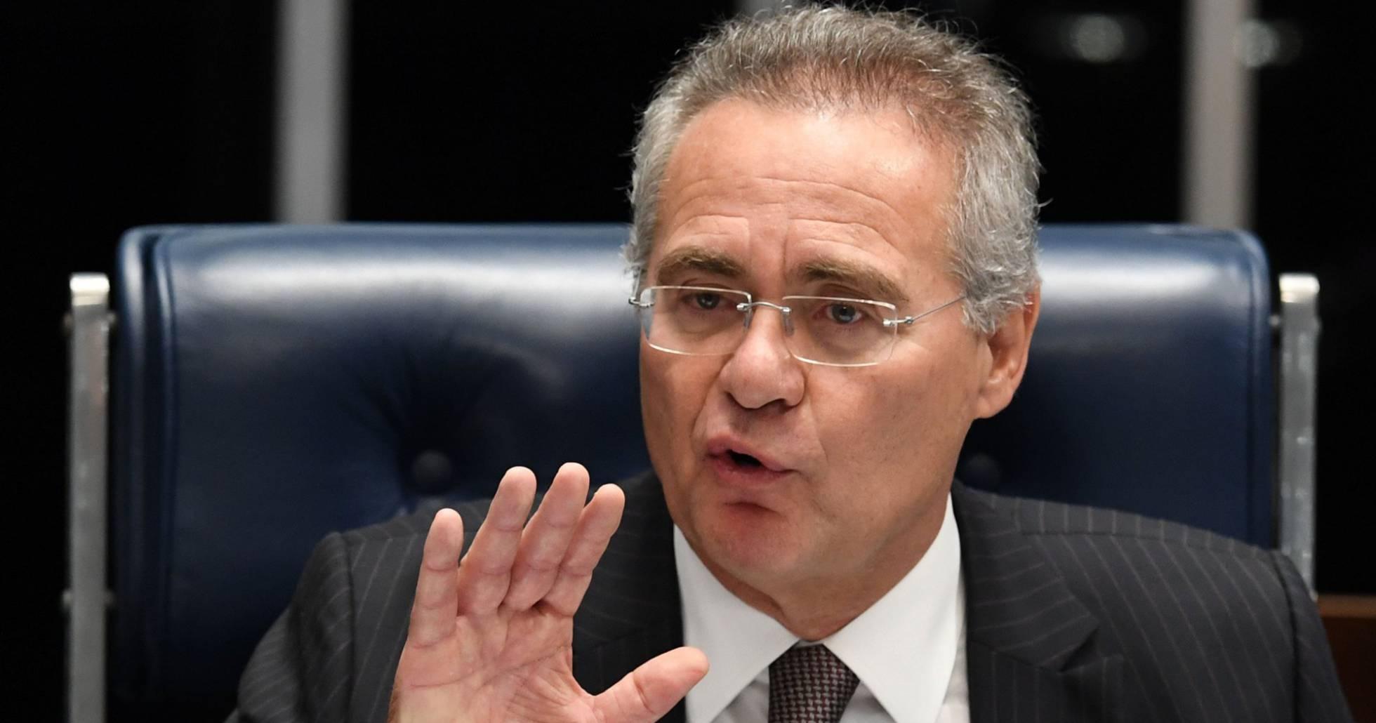 Renan Calheiros é réu no STF por peculato. E. SA AFP